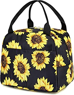 Lunch Bags for Kids, Girls Insulated Lunch Boxes Cooler Lunch Container Tote Bag Picnic Bag for Women Children (Sunflower ...