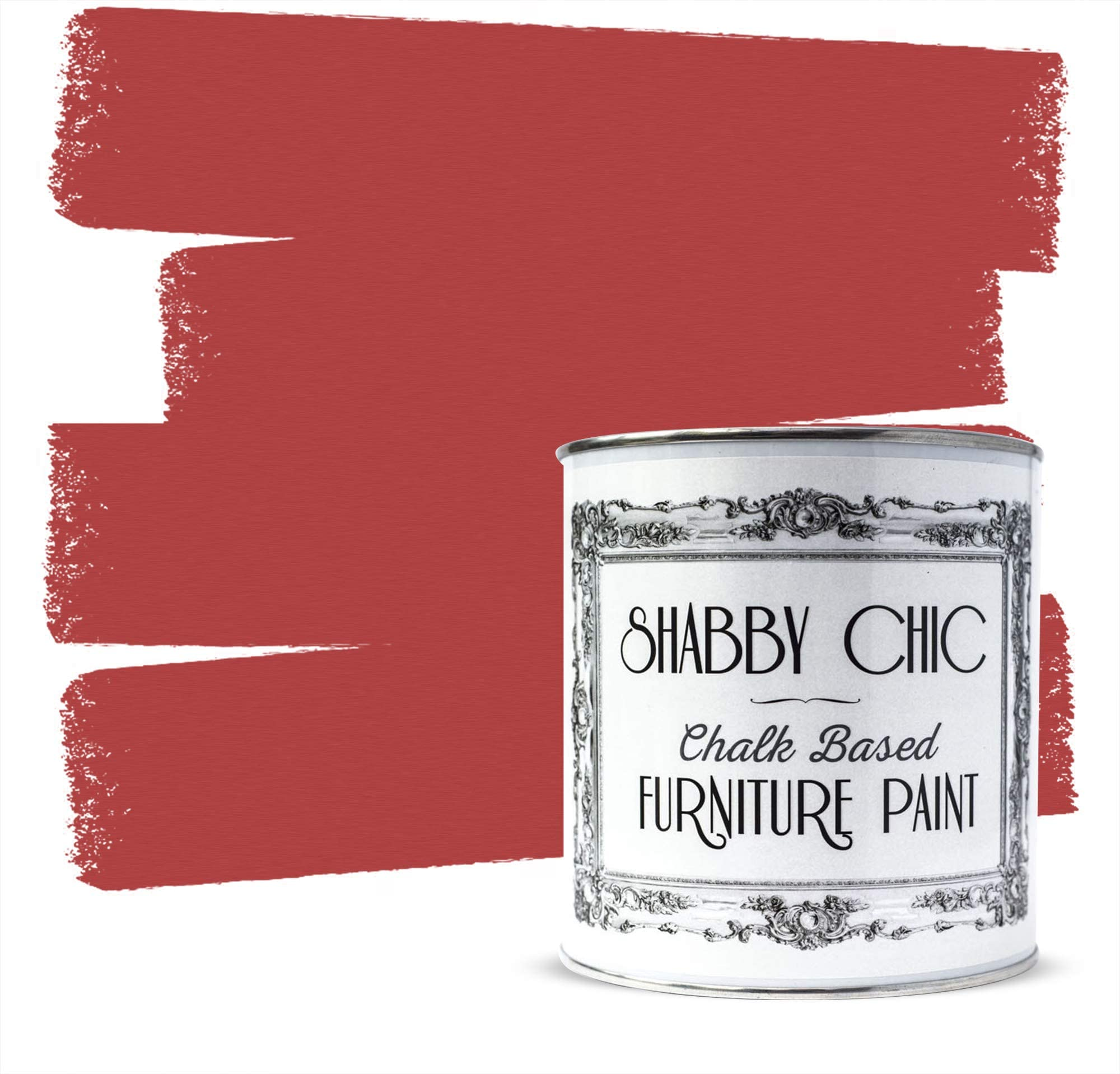 Shabby Chic Furniture Chalk Paint: Chalk Based Furniture and Craft Paint for Home Decor, DIY Projects, Wood Furniture - Chalked Interior Paints with Rustic Matte Finish - Liter - Nautical Red