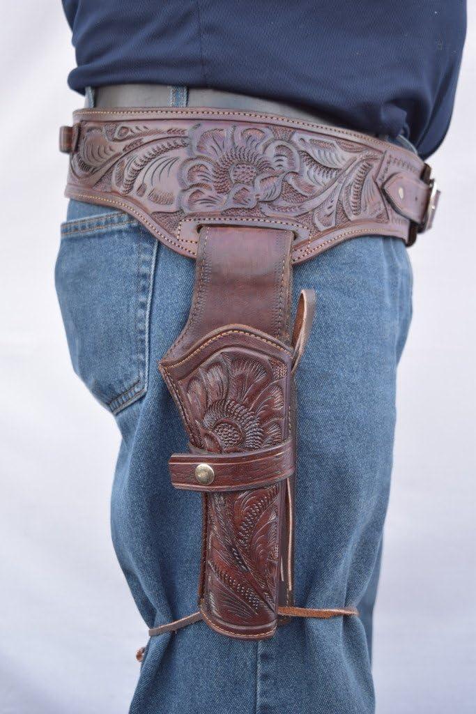 Gun Holster shopping Belt Cowboy Western Style Single Cal Drop Rig shopping .22