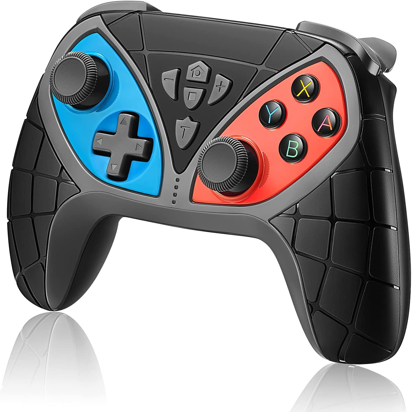 Wireless Controller for Switch, Aikufe Bluetooth Game Pro Controller Gamepad Remote Compatible with Switch/Switch Lite with Turbo, Dual Vibration, Six-axis Motion, Programming and Screenshot Functions
