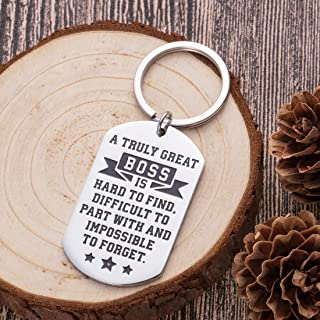 Boss Keychain Appreciation Gifts for Mentor Leader Coworker Leaving Going Away Gifts Supervisor Retirement Thank You Birthday Gifts Colleague Men Women Goodbye Farewell Christmas Presents