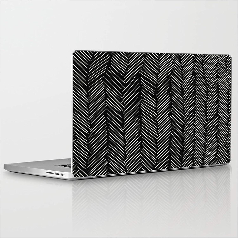 Herringbone Cream On Black by Simple Luxe Max 63% OFF Laptop Skin 2021 Compati on
