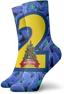 FriendEver Mens Dress Socks Pack Blue Corals Brain Funny Polyester Crew Socks