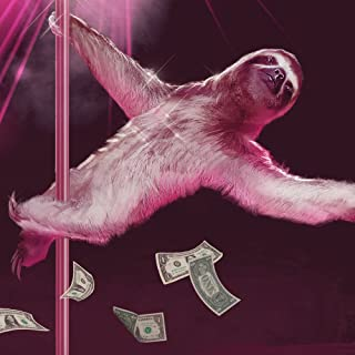 Sharp Shirter Funny Sloth Poster Sexy Wall Art Stripping Slothzilla Unframed Print Gag Gift for Home Decor 8x10 Inches