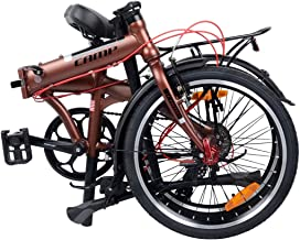 Camp Folding Bike 25lb Shimano 8 Speed 20 Inch- Extra Rack and Fenders Adds 4lb- City