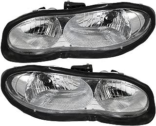 Pair Set Halogen Headlight Headlamps Replacement fits 98-02 Chevrolet Camaro 16525313 16525314 AutoAndArt