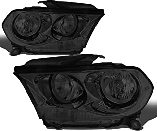 For Durango Pair Smoked Housing Clear Side Headlight/Lamps Left+Right