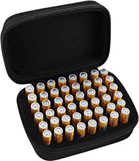 Hard Battery Organizer Storage Box Carrying Case Bag - Hold 48 Batteries AAA [ Not Include Tester and Batteries ] Soul hill (Color : S-Holds-48AAApcs)