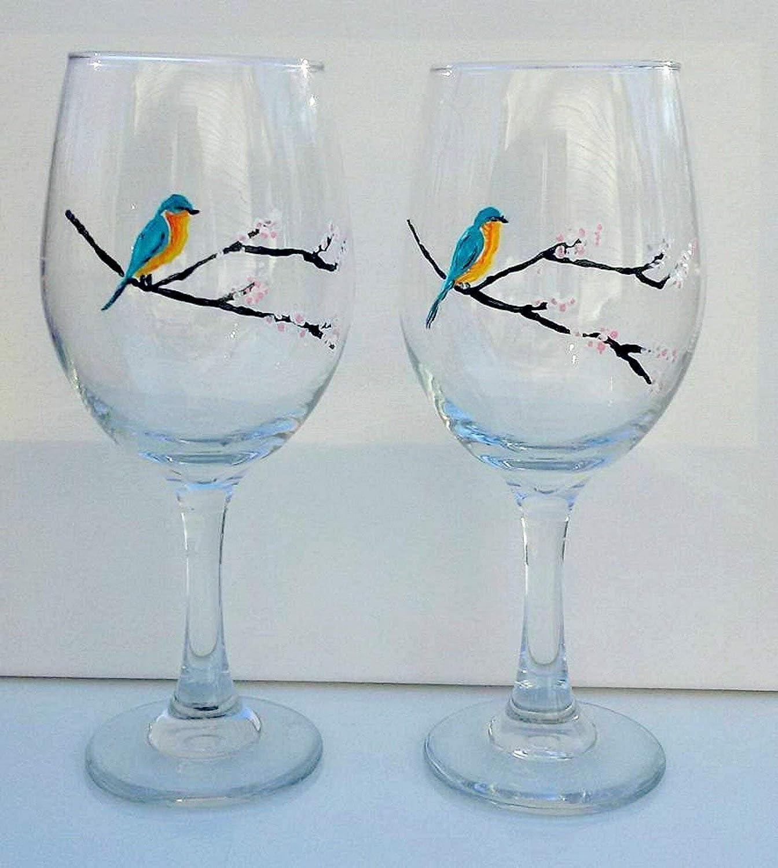 2 Bluebird White Cherry Ranking TOP1 Tree Glasses Wine Set Quality inspection