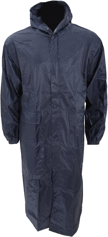 Universal Textiles Mens Long Length Waterproof Hooded Coat/Jacket