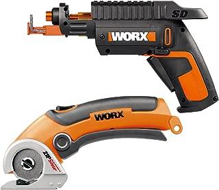 WORX WO7036 Combo Kit - WX255L SD Power Screw Driver with Screw Holder + WX081L ZipSnip Cutting Tool