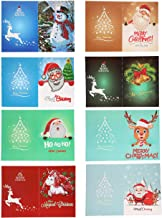 Christmas Cards 5D DIY Diamond Painting Round Drill Greeting Cards Creative 8 Packs, Merry Christmas Handmade Cards Creative Card Rhinestone Embroidery Arts Craft for Family, Friends, Lover