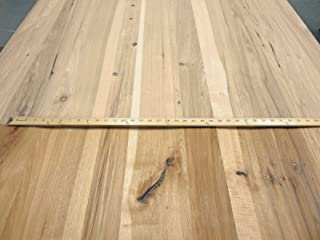Rustic Planked Knotty Hickory Pecan wood veneer 48