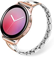 TRUMiRR Band for Galaxy Watch Active 2 40mm 44mm / Galaxy Watch 42mm / Watch3 41mm Women, Bling Diamond & Stainless Steel ...