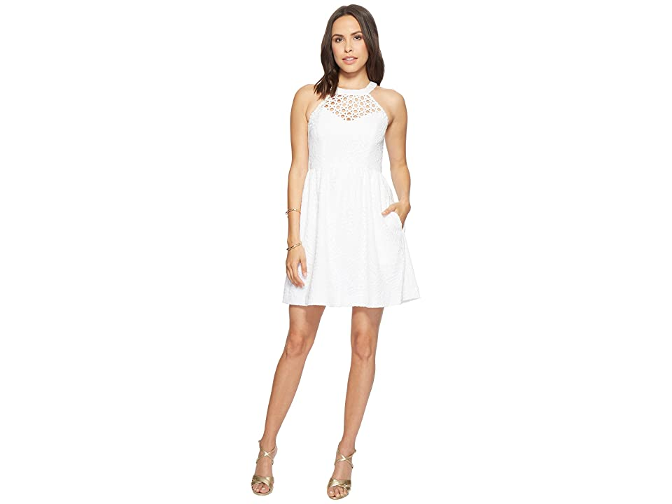 Lilly Pulitzer Kinley Dress (Resort White Tropical Fruit Lace) Women