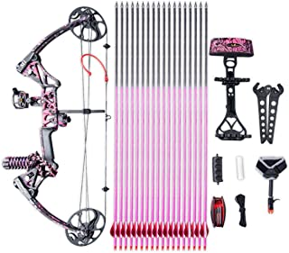 ANTSIR Compound Bow Kit Gift for Youth and Women,10-50 Lbs,19