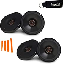 $129 » Infinity - Two Pairs of REF-6532EX Reference 6.5 Inch Two-Way Coaxial Shallow Mount car Audio Speakers