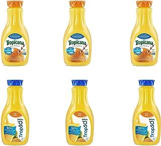 LUV BOX - Variety Tropicana Pure Premium Juice Pack 52oz Plastic Bottle, 6 Per Case Calcium Orange , Trop 50 Orange