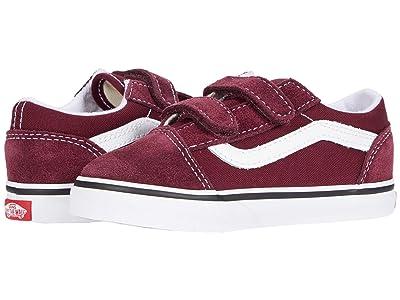 Vans Kids Old Skool V (Infant/Toddler) (Port Royale/True White) Boys Shoes