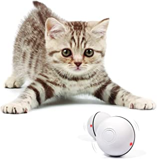 YOFUN Smart Interactive Cat Toy - Newest Version 360 Degree Self Rotating Ball, USB Rechargeable Pet Toy, Build-in Spinnin...