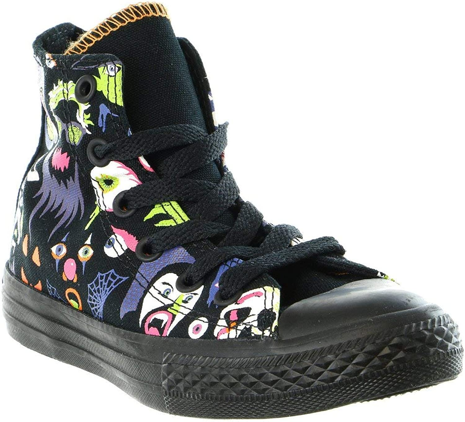 Converse Kid's Chuck Taylor All Star Seasonal Hi Fashion Turnschuhe schuhe, schwarz Bold Lime schwarz, 12