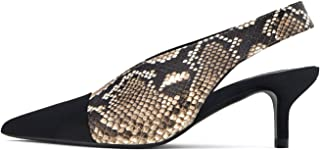 Uterque Women Printed Leather Slingback Shoes 4073/051