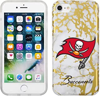 Prime Brands Group White and Gold Marble Design on TPU Skin Cell Phone Case for Apple iPhone 8/7/6S - NFL Licensed Tampa B...