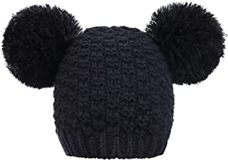 Simplicity Women's Winter Cable Knit Pompom Ski Snowboard Beanie Hat