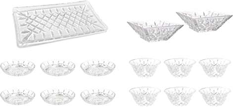 Cristal Collection Naples Entertaining, Elegant Classic Design, Perfect for Party and All Purpose Occassion Use, Quick Eas...