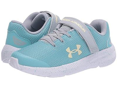 Under Armour Kids Pursuit 2 (Little Kid) (Blue Haze/Mod Gray/Yellow Haze) Girls Shoes