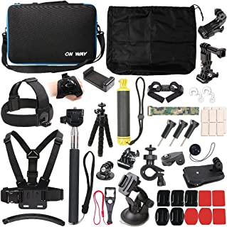 50 in 1 Basic Common Action Camera Outdoor Sports Accessories Kit for GoPro Hero 6/5/Session 5/4/3/2/1 SJ4000/5000/6000/Xi...
