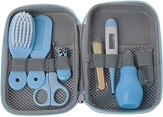 MIsha 8 Unids/Set kit higiene bebe, Neceser de Aseo de Bebé regalos bebes recien nacidos originales (Azul)