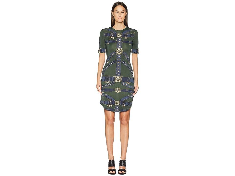 Versus Versace Abito Donna Jersey Dress (Khaki/Stampa) Women