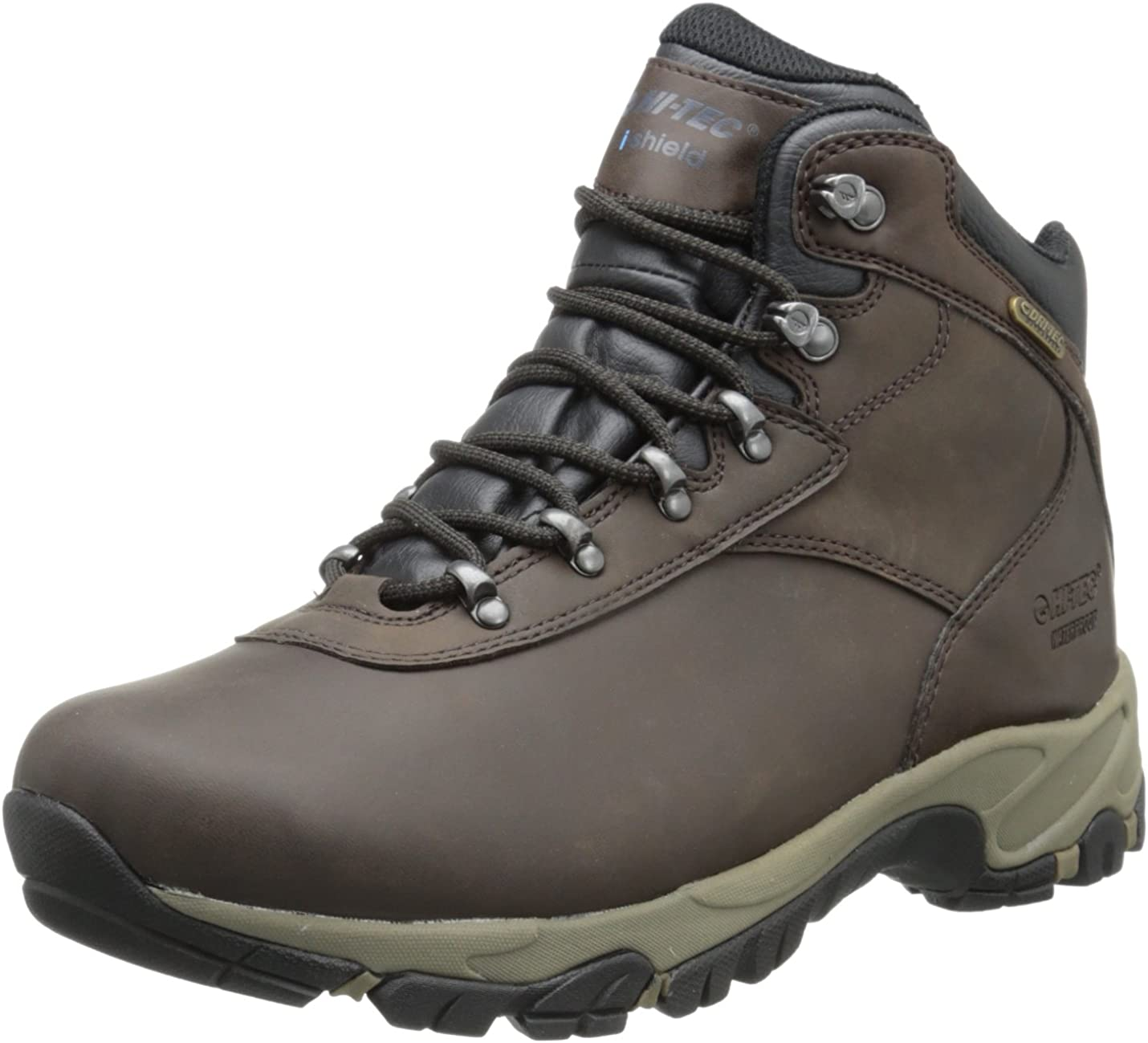 Hi-Tec Men's Altitude V I Waterproof Wide Hiking Boot,Dark Chocolate/Light Taupe/Black,10 W US
