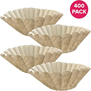 Think Crucial Replacement for Bunn Unbleached Paper Coffee Filter, Fits 12 Cup Commercial Coffee Brewers, Compatible with Part 1M5002 and 20115.0000 (400)