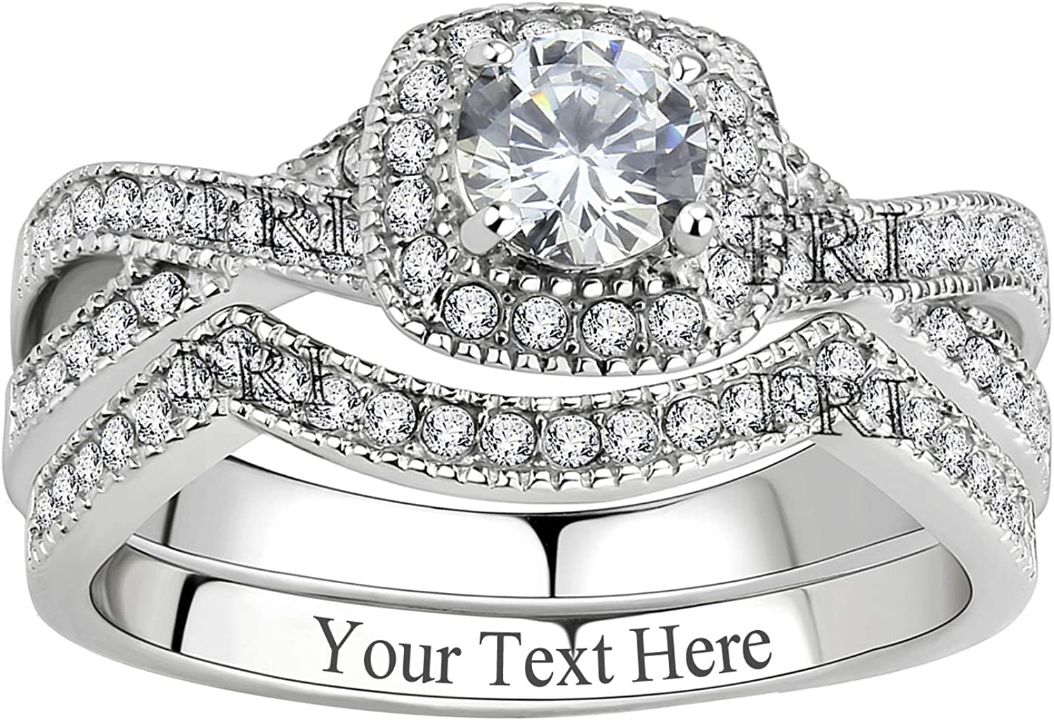 New York Mall Credence FlameReflection Stainless Steel Rings Women Infinity for Wedding