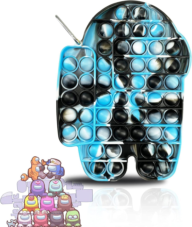 1Pcs 2021 Big Size Push Fidget Tie-dye Pop Toy Fees free!! Silicone Washable