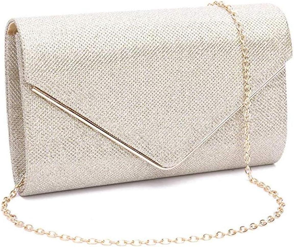 ZIUMUDY Women's Shinny Envelope Clutches Rare Handbag P Free shipping on posting reviews Evening Party