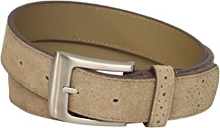 Stacy Adams Men's 32mm Genuine Leather Belt With Perforated Tip and Keeper