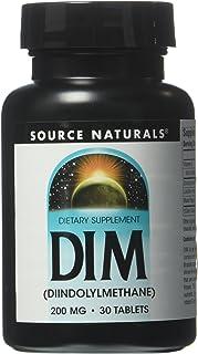 Source Naturals DIM, Diindolylmethane 200mg with BioPerine, Vitamin E & More - 30 Tablets