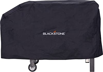 """Blackstone 1529 Griddle Cover (28 Inches) Water Resistant, Weather Resistant Heavy Duty 600D Polyester Outdoor BBQ Grilling Cover Fits 28"""" Griddle with Shelf Attached & Tailgater Black"""