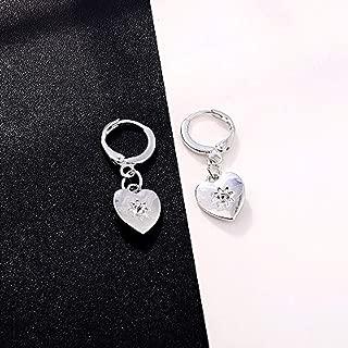 Europe Round Gold Silver Heart Hoop Earrings Female Vintage Love Ear Stud Women Jewelry Charms Small Sun Minimalist E599