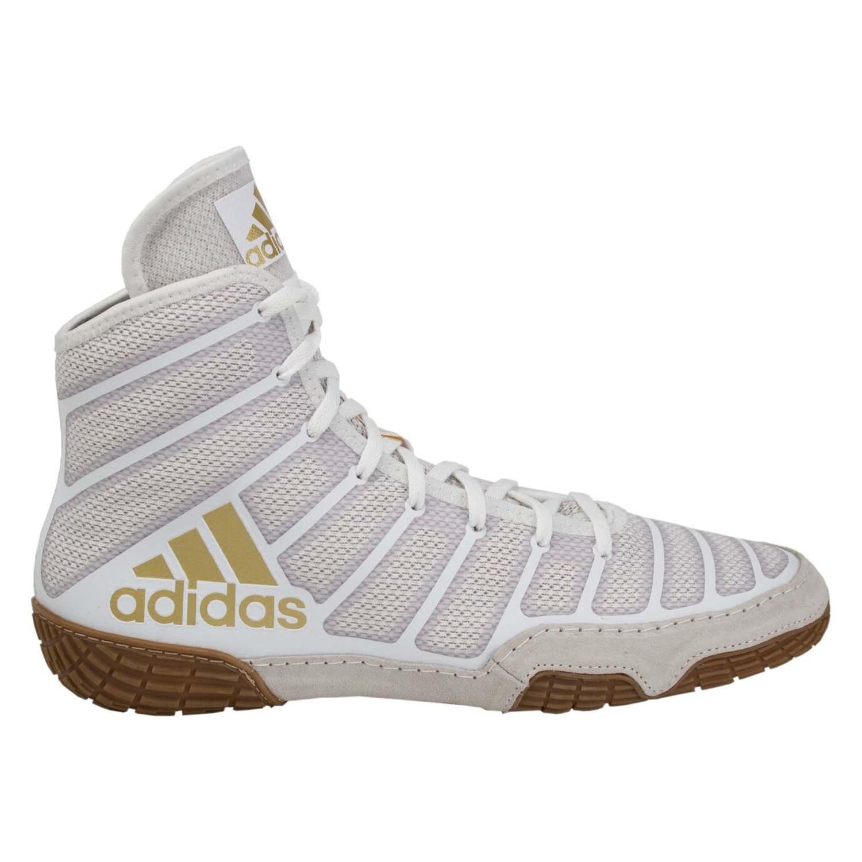 adidas adizero varner wrestling shoes - grey-black-gold - 14
