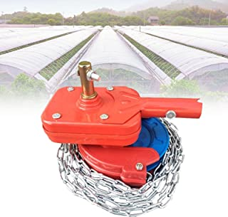 Aocay Greenhouse Manual Film Roll Up Hand Crank Winch for Greenhouse Sidewall or Roof Ventilation, Self-Locking Greenhouse...