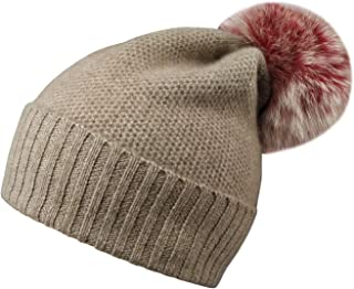 Cashmere Winter Slouchy Beanie Cable Knit Skull Hat Scarf Set Ski Cap for Women Men