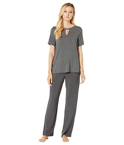 Donna Karan Modal Spandex Jersey Pajama Set (Charcoal) Women