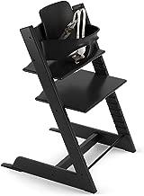 black wood high chair