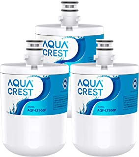 5231JA2002A Refrigerator Water Filter for AQUA CREST, Compatible with LT500P, ADQ72910911, ADQ72910901, ADQ72910907, Kenmore 9890, 46-9890, GEN11042FR-08 (Pack of 3)
