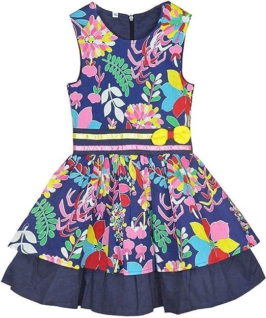 Little Hand Little Hand Madchen Kleider Sommerkleid Fur Madchen Armellose Kinder Fliege Party Sommerkleid Buntes Kleid 122 Herstellergrosse 7 Kleider Amazon De Bekleidung