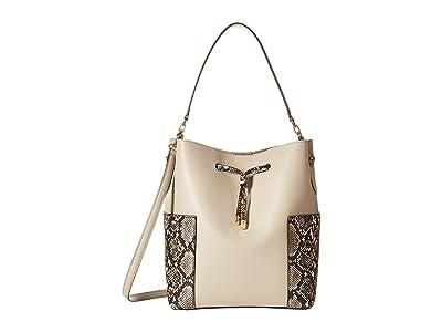 LAUREN Ralph Lauren Dryden Bucket Bag (Alpaca/Black/Natural) Handbags